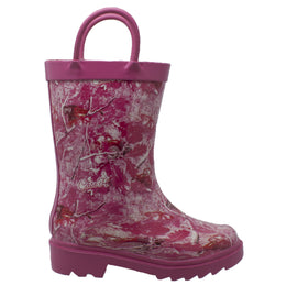 Children's Camo Rubber Boot Pink - CI-4006 - Shop Genuine Leather men & women's boots online | AdTecFootWear