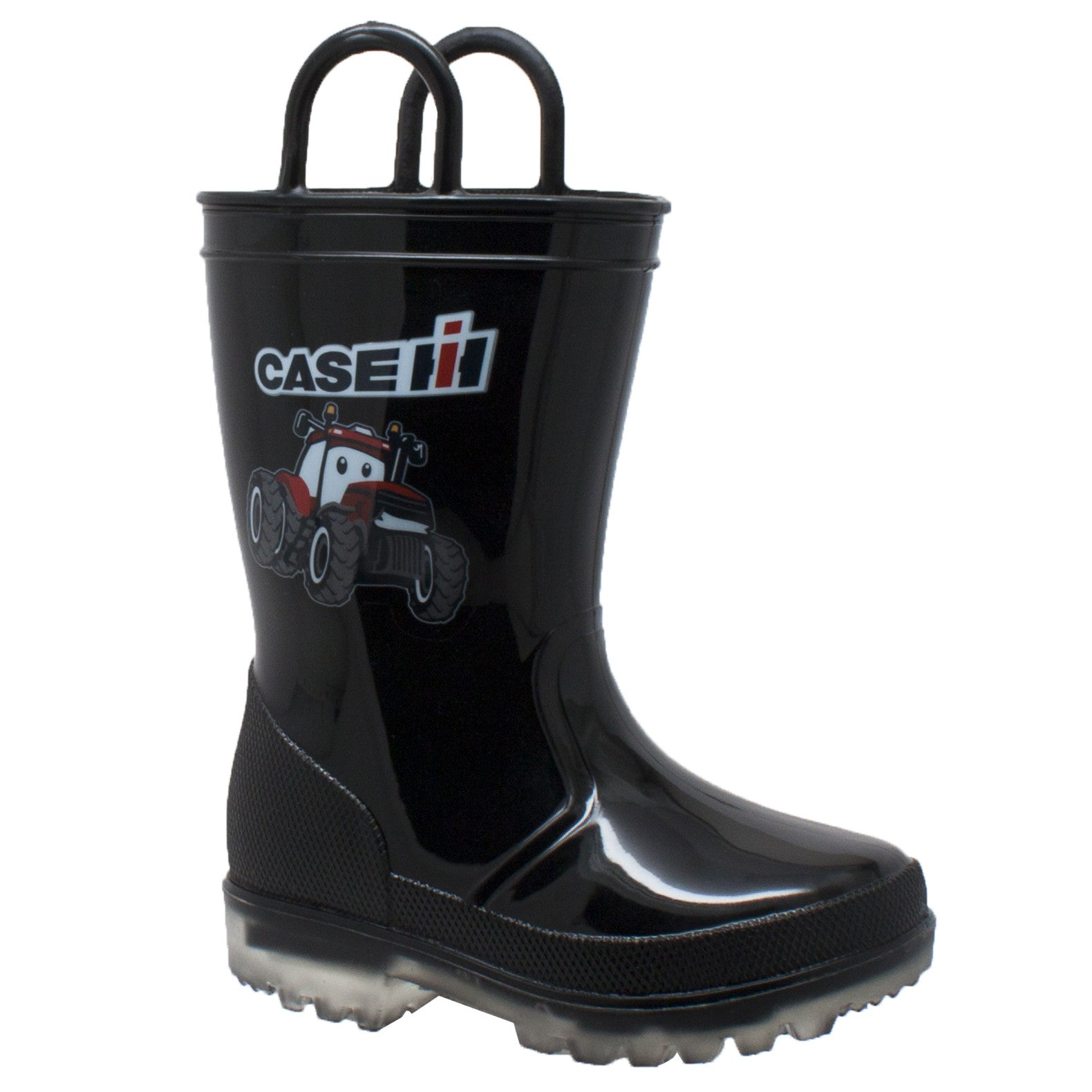 Children's PVC Boot with Light-Up Outsole Black - CI-4008 - Shop Genuine Leather men & women's boots online | AdTecFootWear