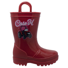 Children's PVC Boot with Light-Up Outsole Red - CI-4011 - Shop Genuine Leather men & women's boots online | AdTecFootWear