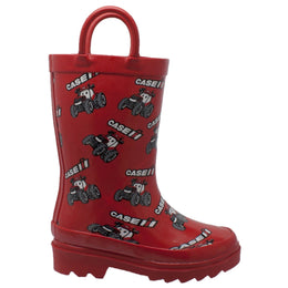 "Toddler's ""Big Red"" Rubber Boots Red - CI-5001 - Shop Genuine Leather men & women's boots online 