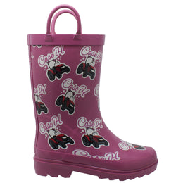 "Toddler's ""Lil' Pink"" Rubber Boot Pink - CI-5002 - Shop Genuine Leather men & women's boots online 