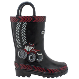"Toddler's 3D ""Big Red"" Rubber Boot Black - CI-5003 - Shop Genuine Leather men & women's boots online 