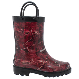 Toddler's Camo Rubber Boot Red - CI-5005 - Shop Genuine Leather men & women's boots online | AdTecFootWear