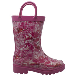 Toddler's Camo Rubber Boot Pink - CI-5006 - Shop Genuine Leather men & women's boots online | AdTecFootWear