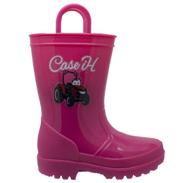 Toddler's PVC Boot with Light-Up Outsole Pink - CI-5009 - Shop Genuine Leather men & women's boots online | AdTecFootWear
