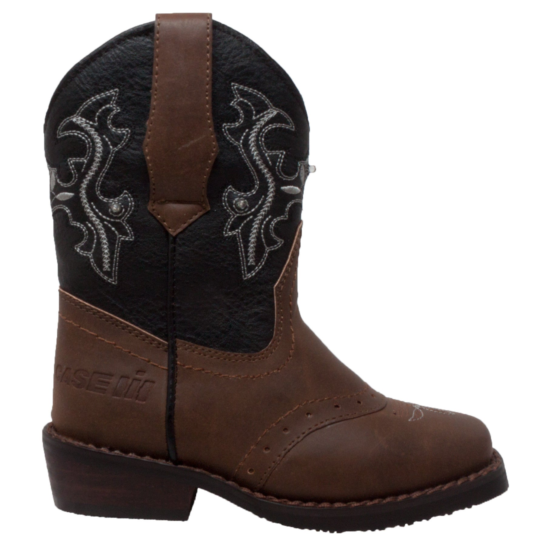Toddler's Western Light Up Boot Brown/Black - CI-5016 - Shop Genuine Leather men & women's boots online | AdTecFootWear