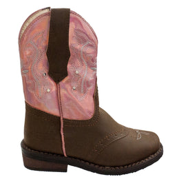 Toddler's Western Light Up Boot Brown/Pink - CI-5017 - Shop Genuine Leather men & women's boots online | AdTecFootWear