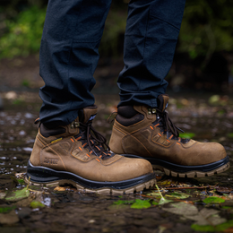 "Men 6"" Waterproof Composite Toe Work Hiker Brown - 9899 - Shop Genuine Leather men & women's boots online 