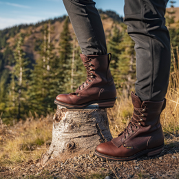 "Men's 9"" Chestnut Packer - 1173 - Shop Genuine Leather men & women's boots online 