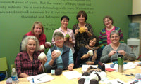 The first group get together of KnittedKnockers.org at Apple Yarns.