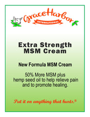 Extra Strength MSM Cream by Grace Harbor Farms - Original Formula - 8  ozExtra Strength MSM Cream