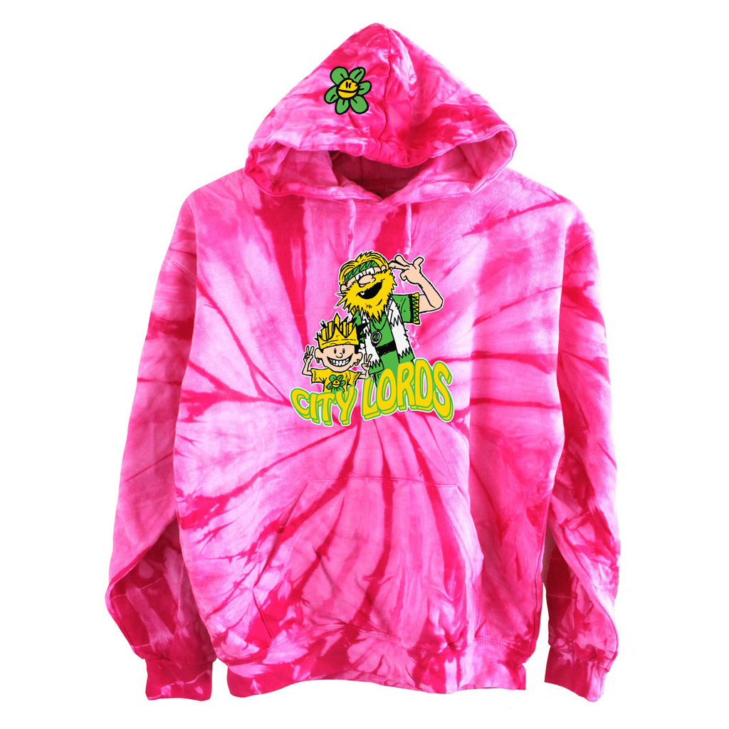 hippie lords hoody - spider pink