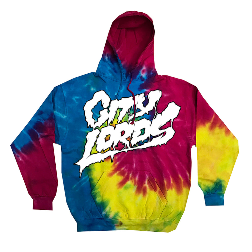 rock lords hoody- reactive rainbow