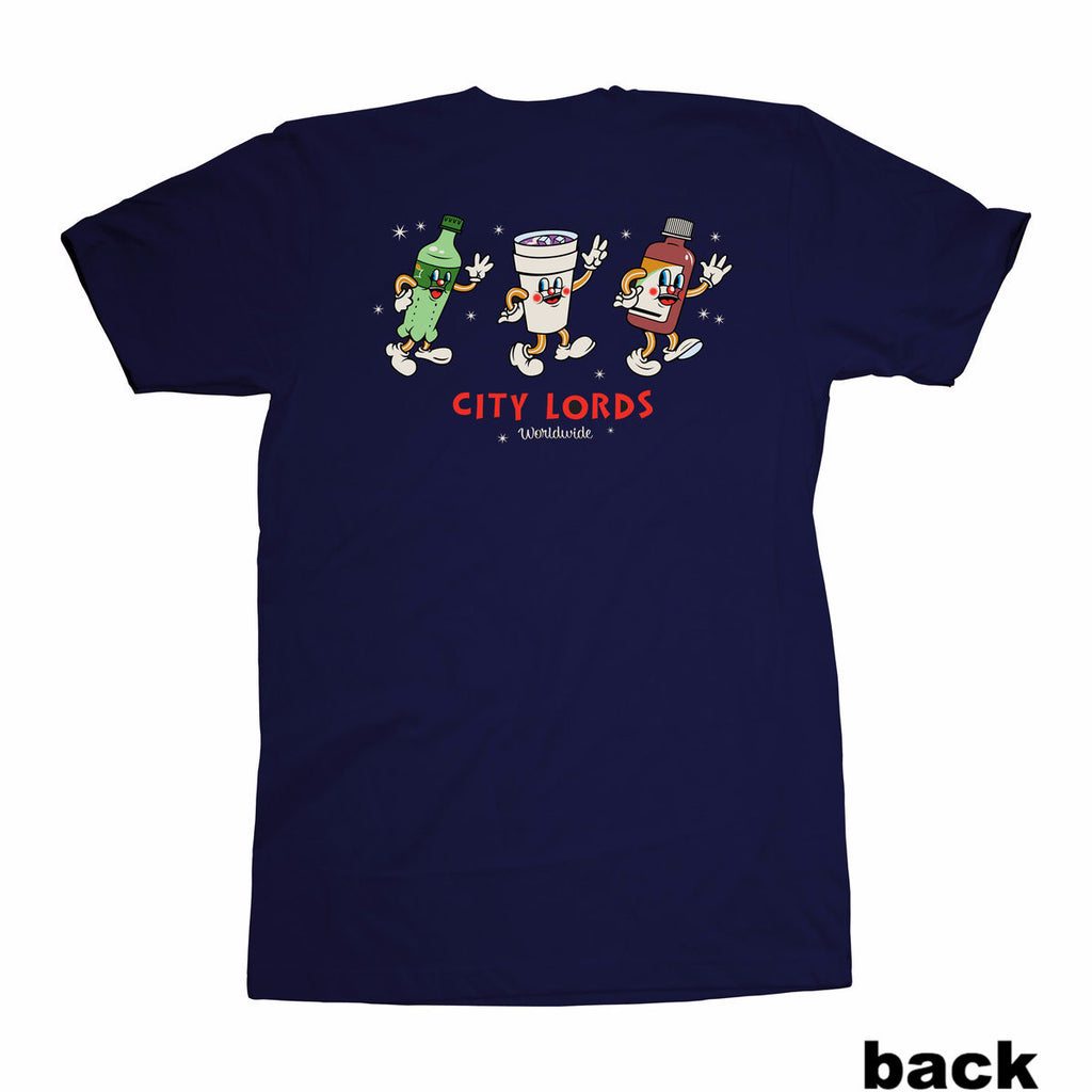 1950's double cup gang tee - navy