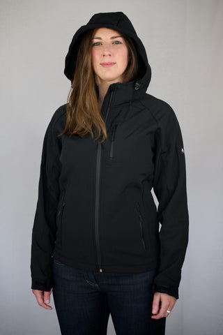 Black Hooded Soft Shell