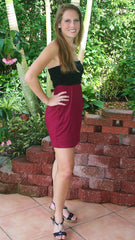 Kick off Favorite Gameday Dress   Burgundy - Midnight Magnolia Boutique