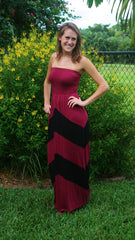 Touchdown Terrace Garnet Maxi Gameday Dress - Midnight Magnolia Boutique