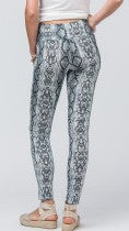 Black & White Reptile Print Leggings - Midnight Magnolia Boutique