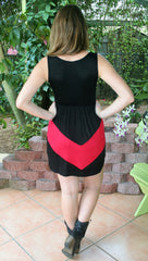 Cheer Me On Black & Red Game Day Dress, - Midnight Magnolia Boutique