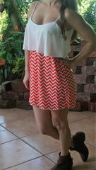 Orange & White Chevron Gameday Dress - Midnight Magnolia Boutique