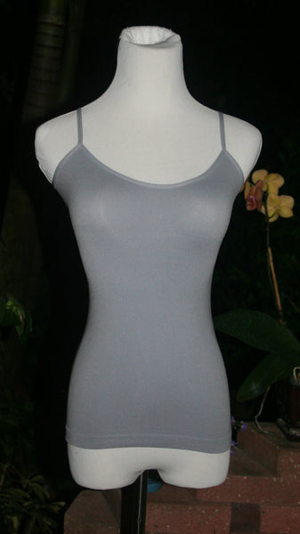 Heather Gray Spaghetti Strap Long Tank Top Undergarment - Midnight Magnolia Boutique