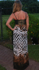 Eye of the Tiger Animal Print Maxi Dress - Midnight Magnolia Boutique