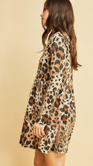 Mocha Leopard Print Dress - Midnight Magnolia Boutique