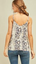 Tan Reptile Print Tank Top - Midnight Magnolia Boutique