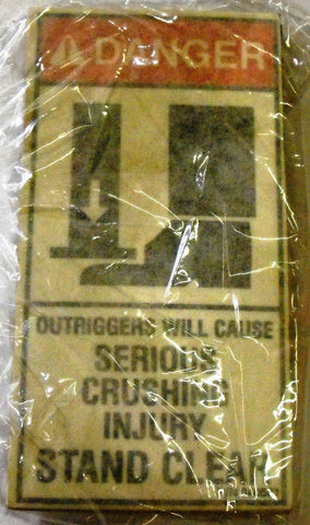 Auto Crane 40581000 DECAL DNGR SERIOUS CRUSH INJURY