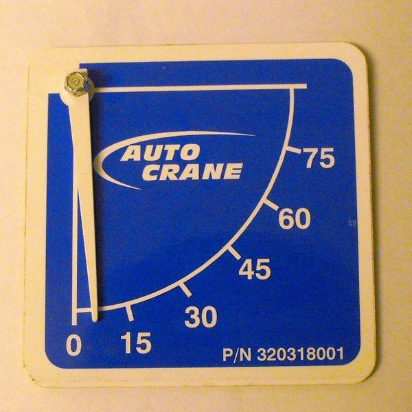 Auto Crane 320318001 Decal - Angle Indicator Street Side