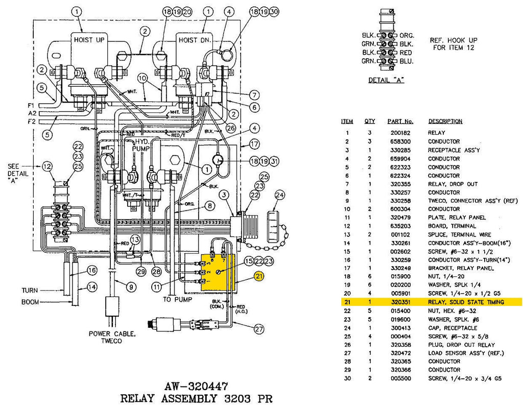 Auto Crane 5005eh Wiring Diagram Diagrams 6006 320351000 Older Relay Solid State 5005h