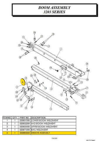 Auto Crane 320883000 SHEAVE ASSEMBLY