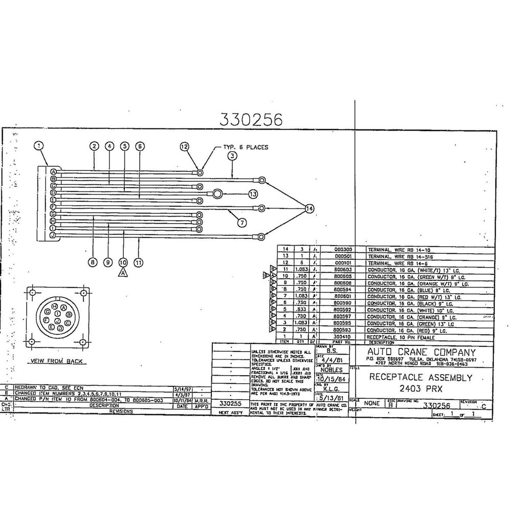Wiring Diagram For Auto Crane 6006 1989s 10 U0026 How To Find Your Serial Test Schematic 1989sc1stschematic Diagrams