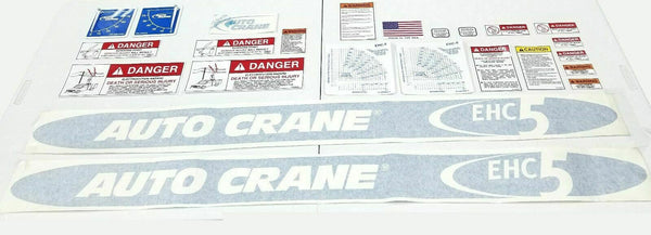 Auto Crane 360682000 DECAL LAYOUT 5005EH