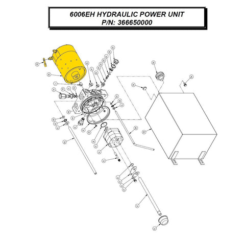Auto Crane 36665002 Motor Kit for 6006EH (HYDRAULIC POWER UNIT-366650000)