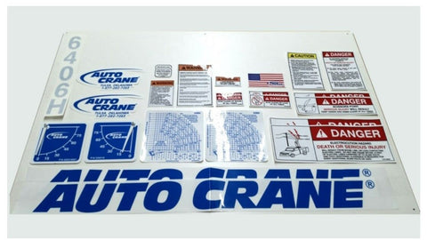 Auto Crane 360809000 DECAL KIT FOR 5005EH