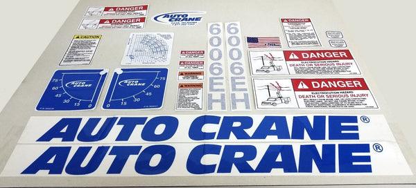 Auto Crane 366808000 DECAL LAYOUT 6006EH BLUE 10-16