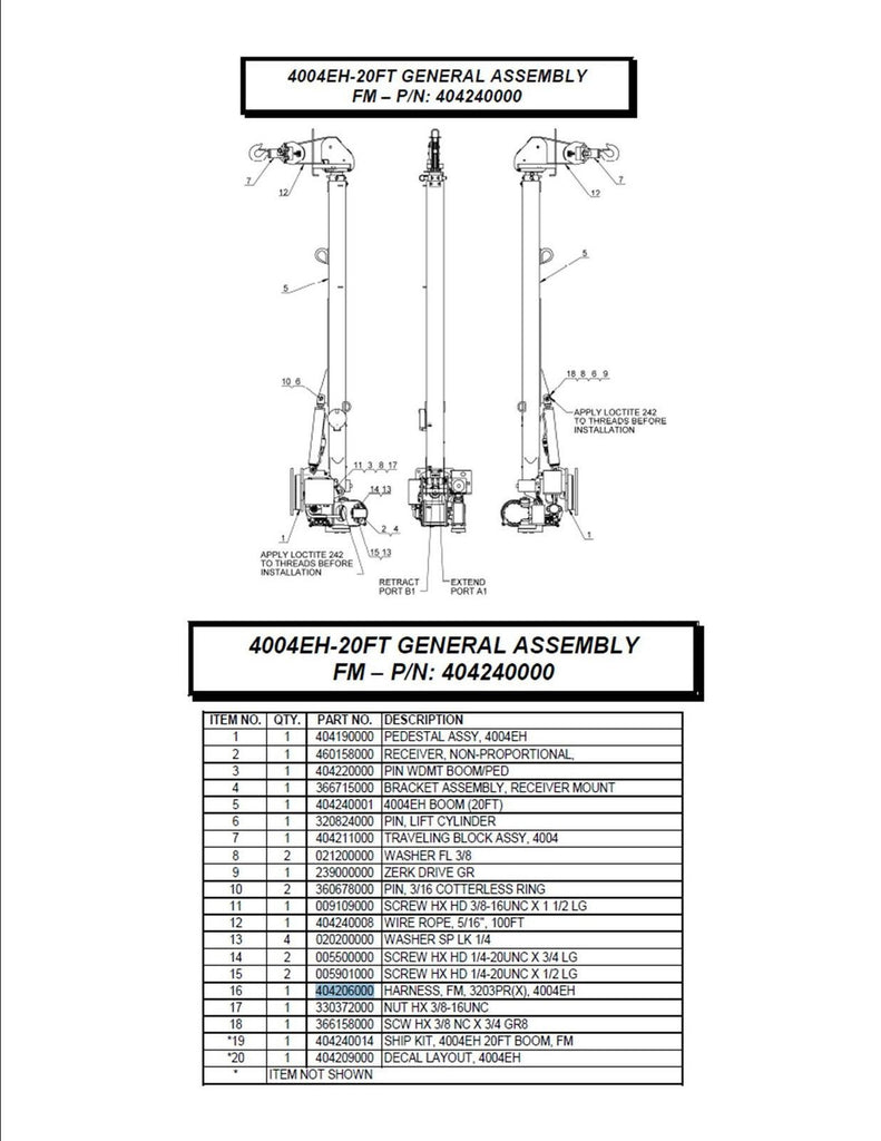 Auto Crane 3203 Wiring Diagram Unicell Page 14