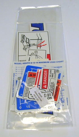 Auto Crane 404209000 DECAL LAYOUT, 4004EH