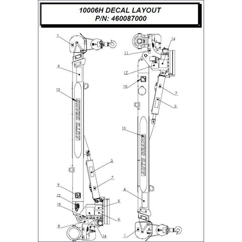 Auto Crane 460087000 Decal Layout Kit for 10006H