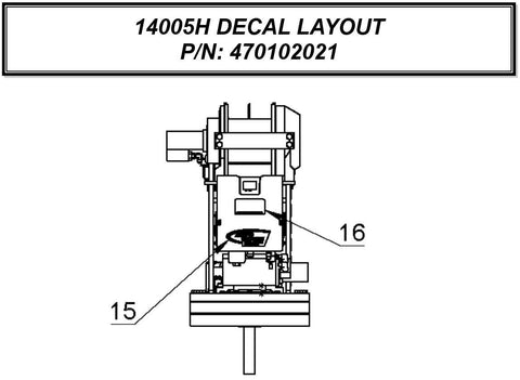 Auto Crane 470102021 DECAL LAYOUT 14005H NEXSTAR