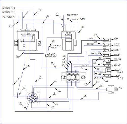 crane ignition switch wiring diagram