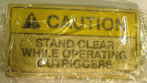"Auto Crane 759017000 DECAL DANGER ""A MOVING OUTRIGGER"""