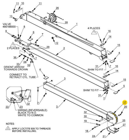 "Auto Crane 466130000 Sheave Assembly 7/16"" Rope for 12006H"