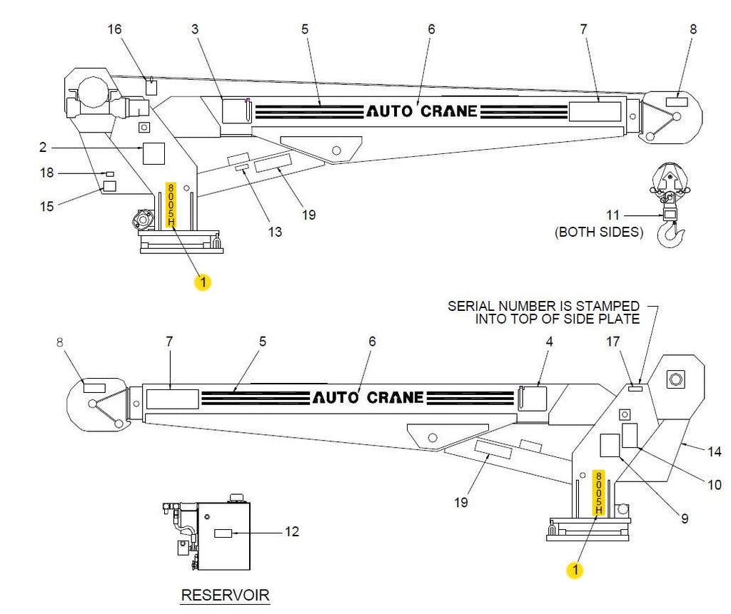 Overhead Crane Wiring : P amp h overhead cranes wiring diagram diagrams