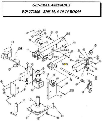 Auto Crane 270325001 SEAL KIT  FOR LIFT CYLINDER 2703 SERIES