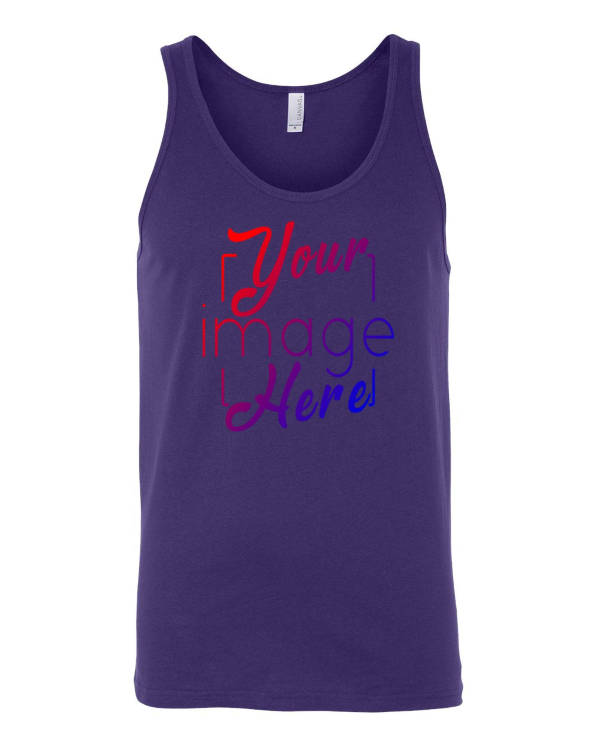 Flat Image of a Bella Canvas Tank Top for Custom Printing