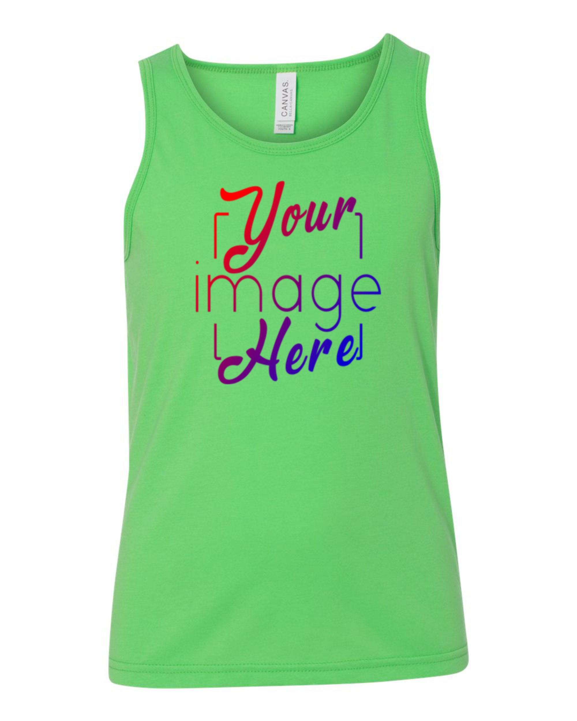 Front Image of a Youth Tank Top for Custom Printing