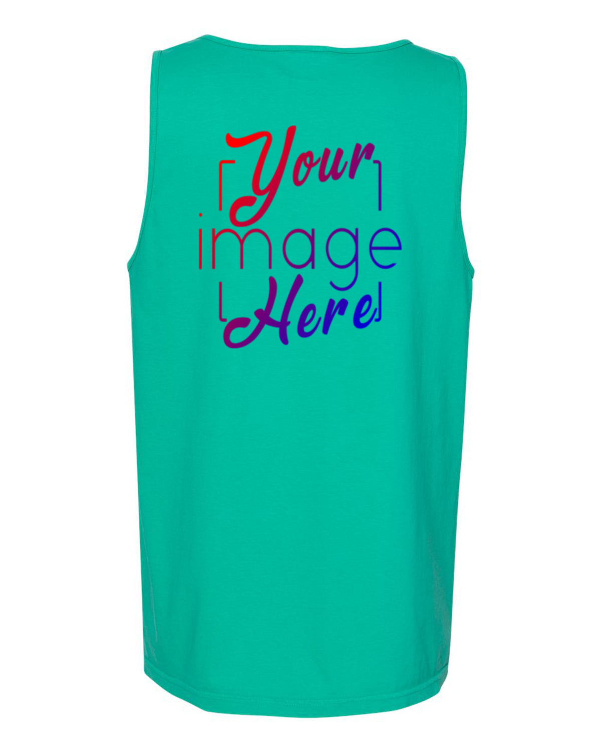 Back Image of Comfort Colors Tank Top for Custom Printing