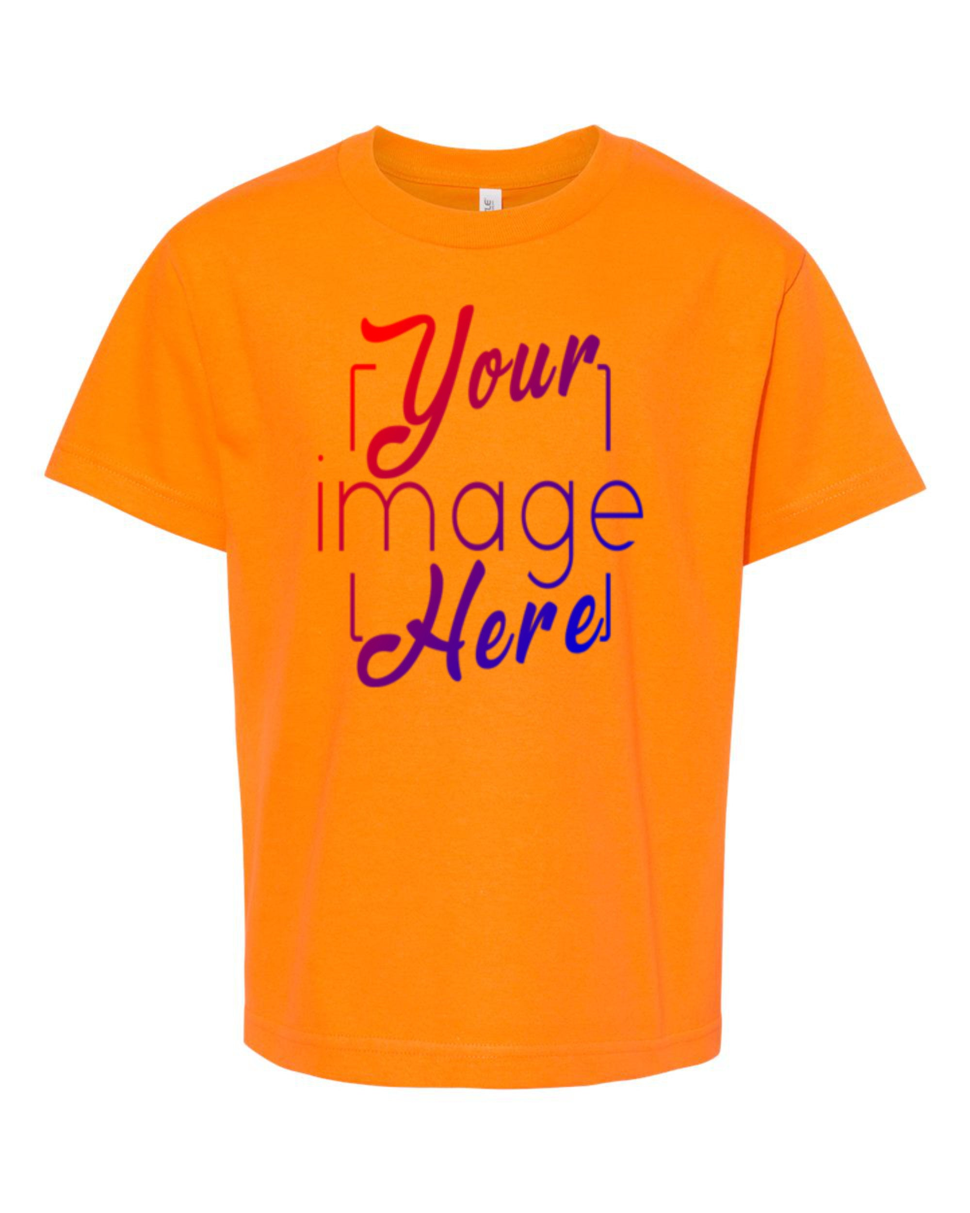 Front Image of a Youth Alstyle T-shirt in Orange for Custom Printing